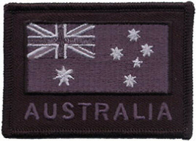 Australian Flag on White on Black ANF Embroidered Patch