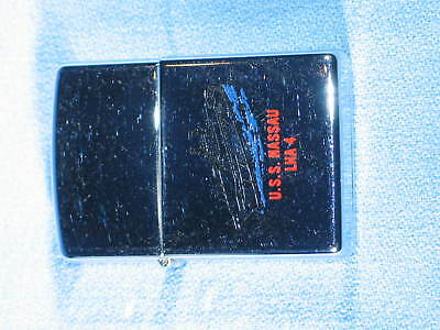 ZIPPO 1997 High Chrome Polished Lighter U.S.S. Nassau LHA-4