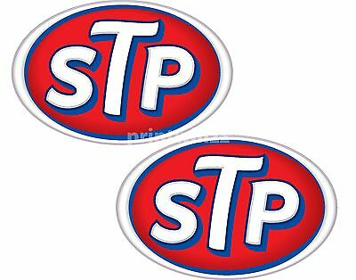 STP Oil x 2 Stickers 115x75m Racing Motorcycle Car Decals Quality Vinyl Label