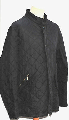 Great Men Barbour D1911 Flyweight Chelsea Quilt Jacket Size Extra Large Black