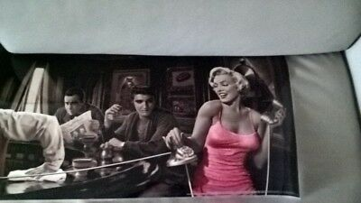 Marilyn Monroe James Dean Elvis Presley Humphrey Bogart Poster Wall