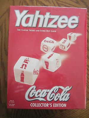 New Coca Cola Yahtzee Game Collector's Edition