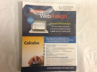 Cengage Calculus Enhanced WebAssign Instant Access Homework & eBook