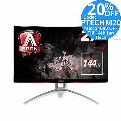 """AOC Agon AG272FCX 27"""" LED LCD Curved Gaming Monitor FHD FreeSync 144Hz Speaker"""