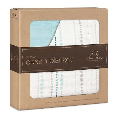 Aden and Anais Silky Soft Dream Blanket - Azure (Bead)