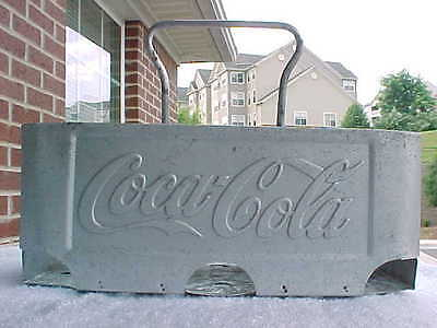 Coca Cola Aluminum Metal 6 Pack Bottle Carrier/caddie Made By Acton Mfg. Co.