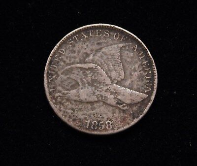 1858 1C Flying Eagle Cent Fine Large Letters