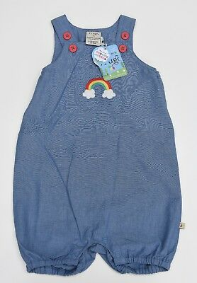 Frugi Organic Clothing Cadgwith Rainbow Dungaree 12-18 months Brand New BNWT