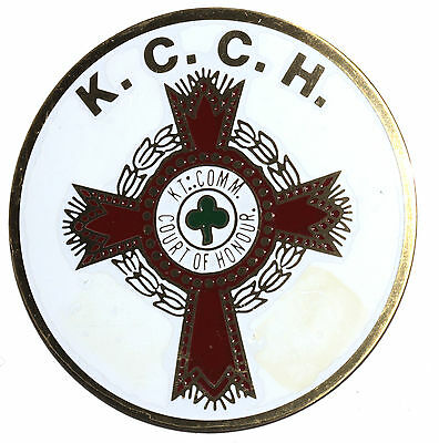 Vintage Knights Templar Court Of Honour Templar Cross Car Bumper Decal Emblem