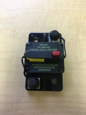 USED Bussman 187 Series (Blue Sea 7149) DC Circuit Breaker - 150 Amps