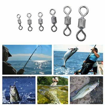 50pcs Durable Fishing Hook Connector Rolling Swivel Ball Bearing Solid Rings