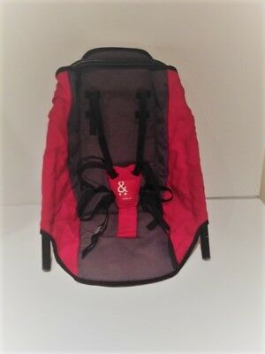 phil&teds classic double rear seat red & grey