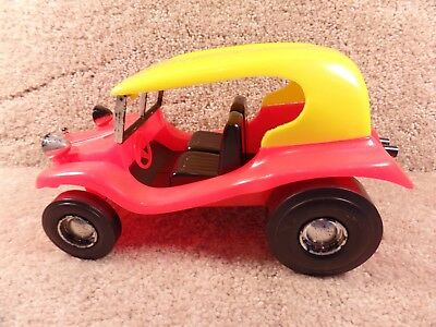 VINTAGE HAWK MODEL Co 1968 Dune Buggy Plastic Toy Car Red Made In USA RARE