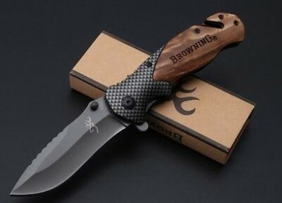 Tactical Pocket Hunting Knife Browning X50 Camping Folding Survival Knife NEW
