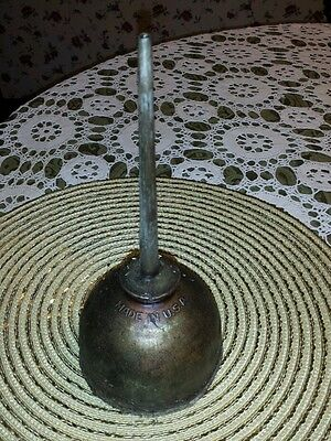 """Vintage Eagle Metal Oil Can ♤ Oiler For Farm Tractor ♤ 10"""" Tall X 4.25"""" ♤ Usa"""