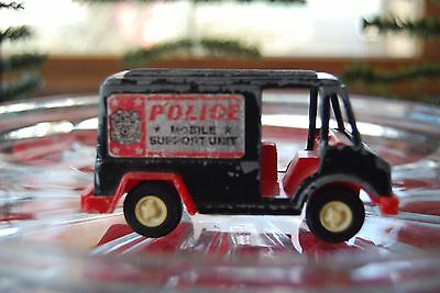 Tootsie Toy 1970 Vintage Diecast Police Mobile Support Unit Panel Truck