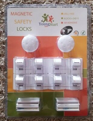 Young Start Magnetic invisible Baby and Child proof Safety Locks for Cabinets 8