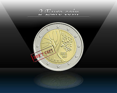 ESTONIA 2 EURO coin 2017 ( Estonia's Independence ) Commemorative  Coin * UNC