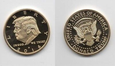 Donald Trump Gold Eagle Coin W/ Capsule Free Shipping