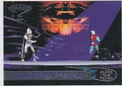 1995' Fleer Ultra- Batman Forever..Video Game Preview Chase #G-1