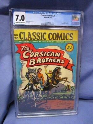 Classics Comics #20 The Corsican Brothers CGC 7.0 / 1944 First Edition
