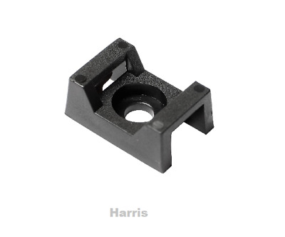 100 x Cable Tie cradleCable Ties Mount With Screw Hole 21 x 16 x 9 mm