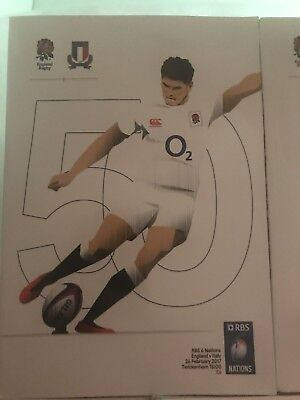 NEW UNREAD RBS RUGBY UNION SIX NATIONS(2016&2017) Programmes at TWICKENHAM