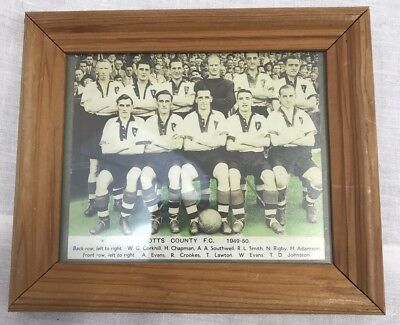 Notts County Football Squad Photo 1949/50 Framed