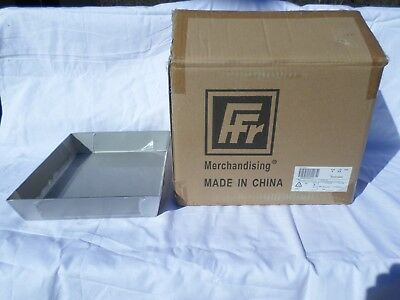 New, Box of 4, Stainless Steel Deli Display Pans.   #678