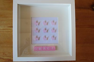 Personalised Picture Prams New Baby /christening /nursery In Box Frame Fab Gift