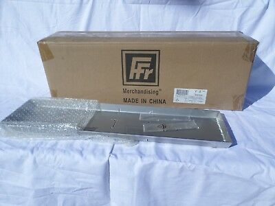 New, Box of 6, FFR Stainless Steel Seafood Deli Display Pans w/2 Dividers.  #678