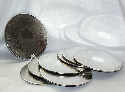 VINTAGE STRACHAN - Silverplate etched PLACE MATS (8)  - Good