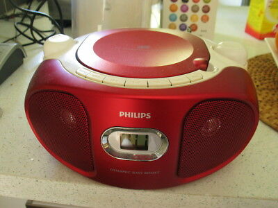 Philips Sound Machine Portable CD Player - Funky Red (AZ102R)