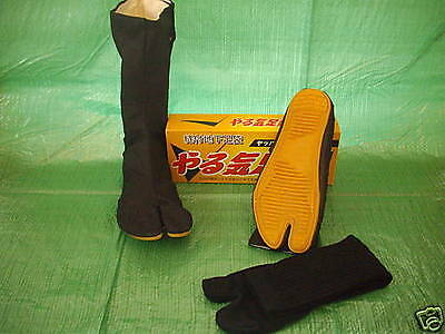 Japanese Ninja Tabi Boots with socks  24 - 28cm UK 6 - 10