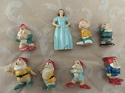 Disney Snow White & The Seven Dwarfs  Rare Vintage Mini Vinyl Set Marked Holland