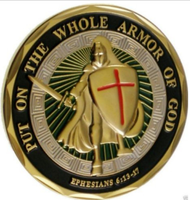 Put on the Whole Armor of God Challenge Coin