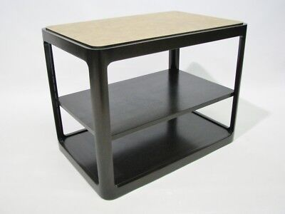 1976 Dunbar Contemporary End Table; Espresso Finish With Laminate Top