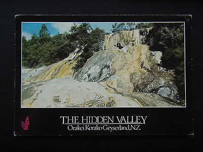 The Hidden Valley Orakei Korako Geyserland Nz Postcard
