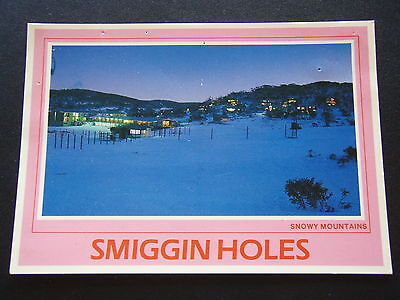 Smiggin Holes By Night Snowy Mountains Postcard