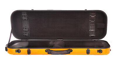 Tonareli Violin Oblong Fiberglass Case VNFO 1005 Orange