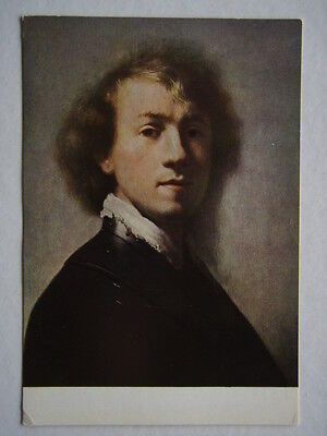 Rembrandt Portrait Of A Painter Self Portrait 1629 Postcard