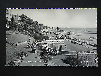 Promenade Westcliff-On-Sea Valentine's Silveresque K5166 Postcard