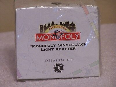 """Department 56 """"MONOPOLY"""" SINGLE Jack Light Adapter New - Sealed Box"""