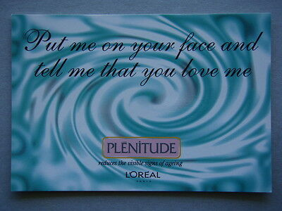 Plenitude L'oreal Put Me On Your Face & Tell Me You Love Me Propaganda Postcard