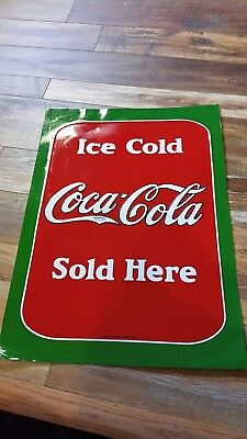 vintage ice cold Coca-Cola sign made in the USA 1932