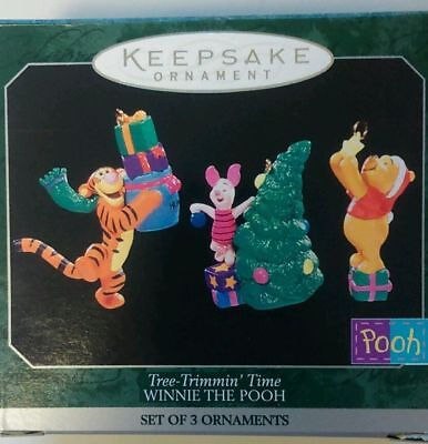NEW Hallmark 1998 Tree Trimmin Time Winnie the Pooh Miniature Ornaments Set of 3