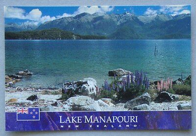 Lake Manapouri New Zealand Cathedral Peaks Postcard (P224)