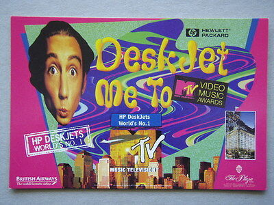 Hp Hewlett Packard Deskjet Me To Mtv Video Music Awards Avant #1463 Postcard