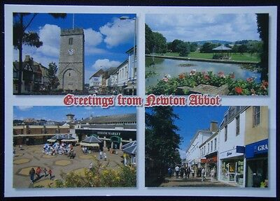 Greetings from Newton Abbot Devon Postcard (P241)