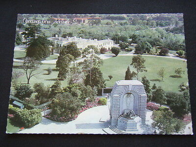 Greetings From Adelaide Sa Looking North Over The War Memorial 1983 Postcard